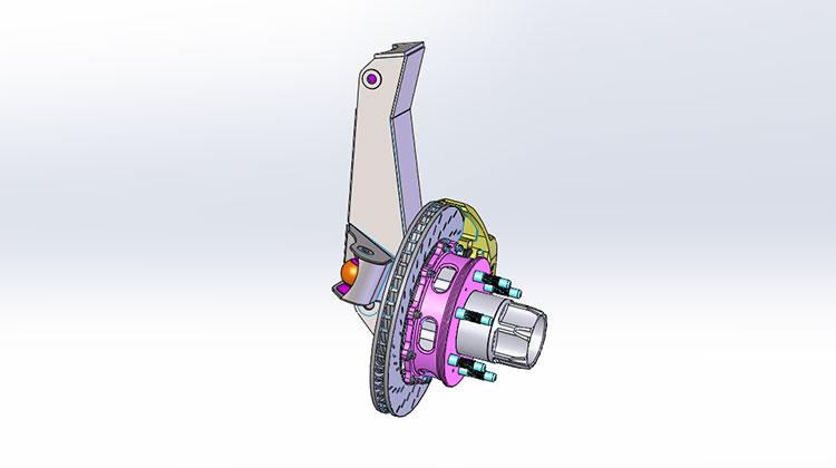 front-upright,hub,-brake-assmbly